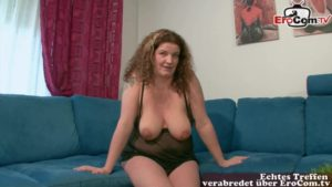 Dicke reife Frau beim Masturbieren und dirty Talk