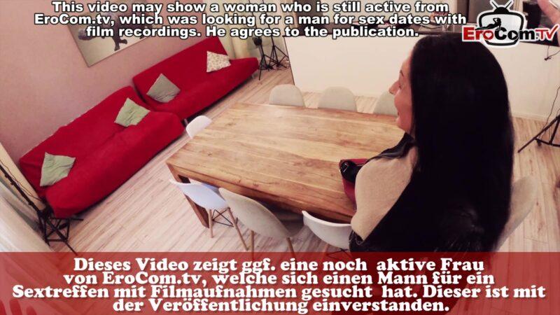 Schwarzhaarige Milf heimlich POV gefilmt beim Sex