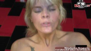Wilde Gangbangparty mit deutscher Blondine