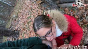 Outdoor ao Fick beim ersten Date mit Milf
