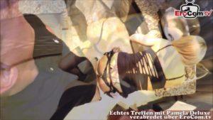 Blonde Frau Pamela Deluxe fickt in heißen Dessous