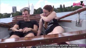 Public Sex im Boot auf einem See mit Amateuren